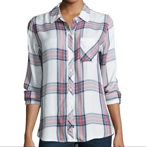 Rails | Hunter Plaid in Coral Navy White